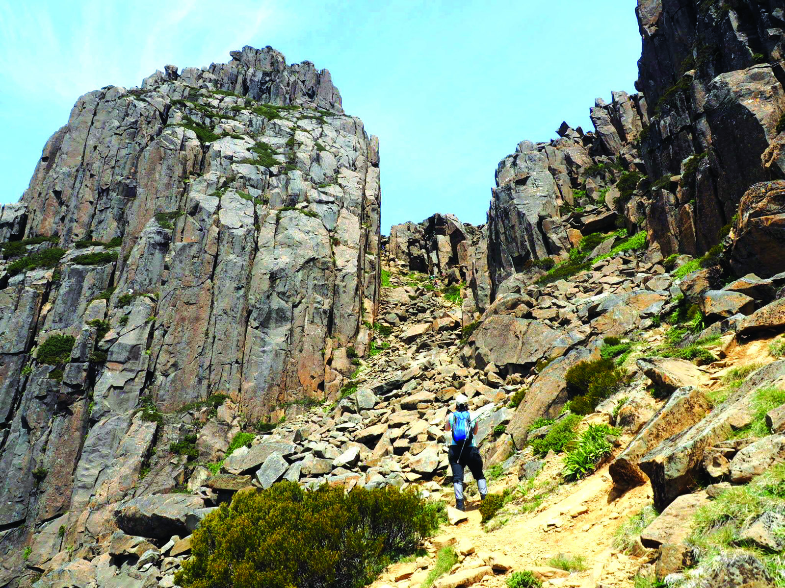 Geological wonders on the Overland Track. Picture Credit: Nikki Kube