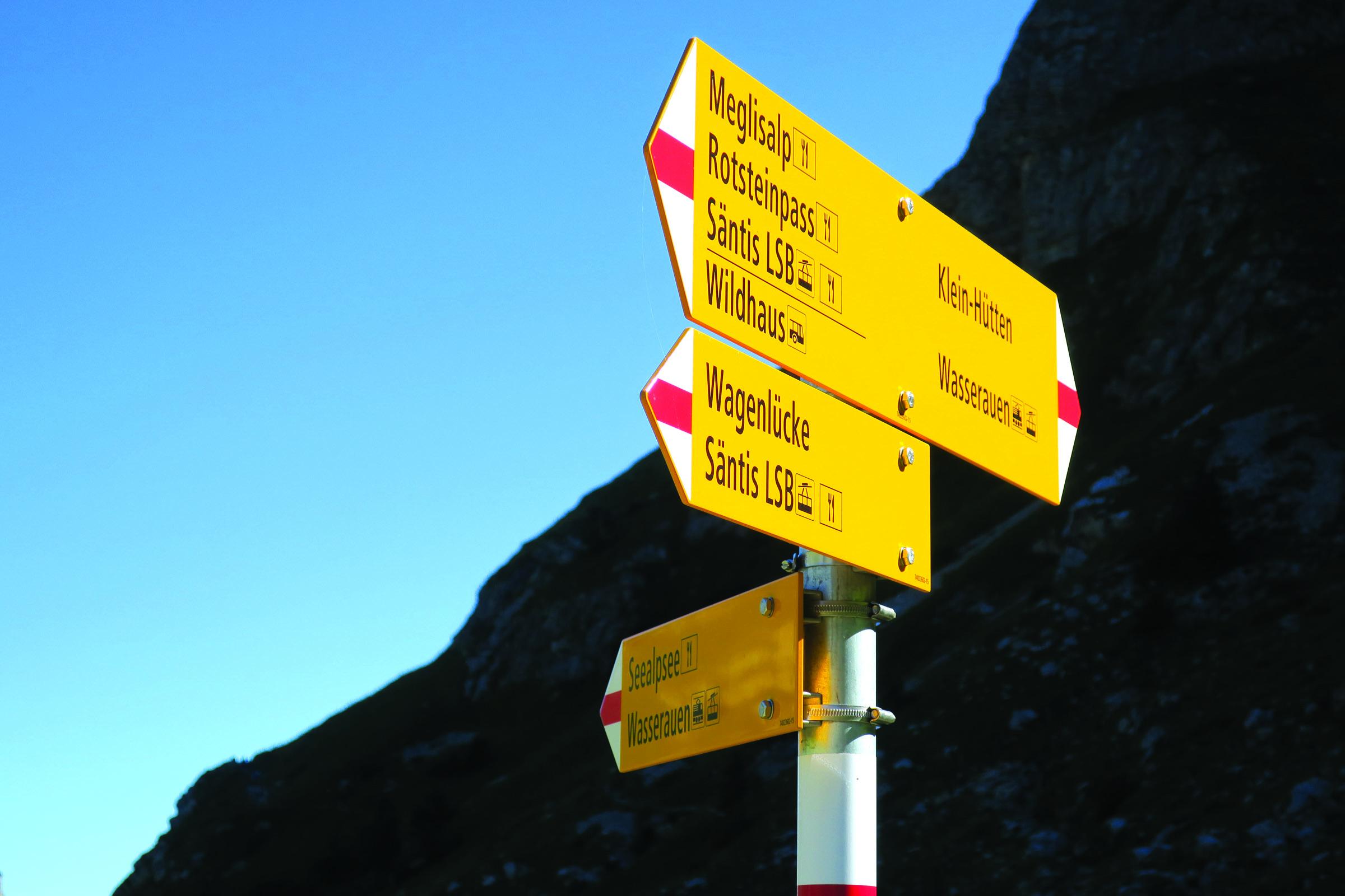 The abundant signage makes for safe and efficient travels