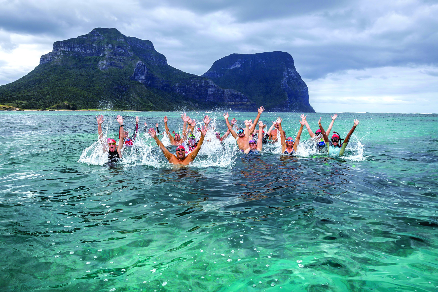 The lagoon on Lord Howe Island. Is there a better place on Earth to swim laps?