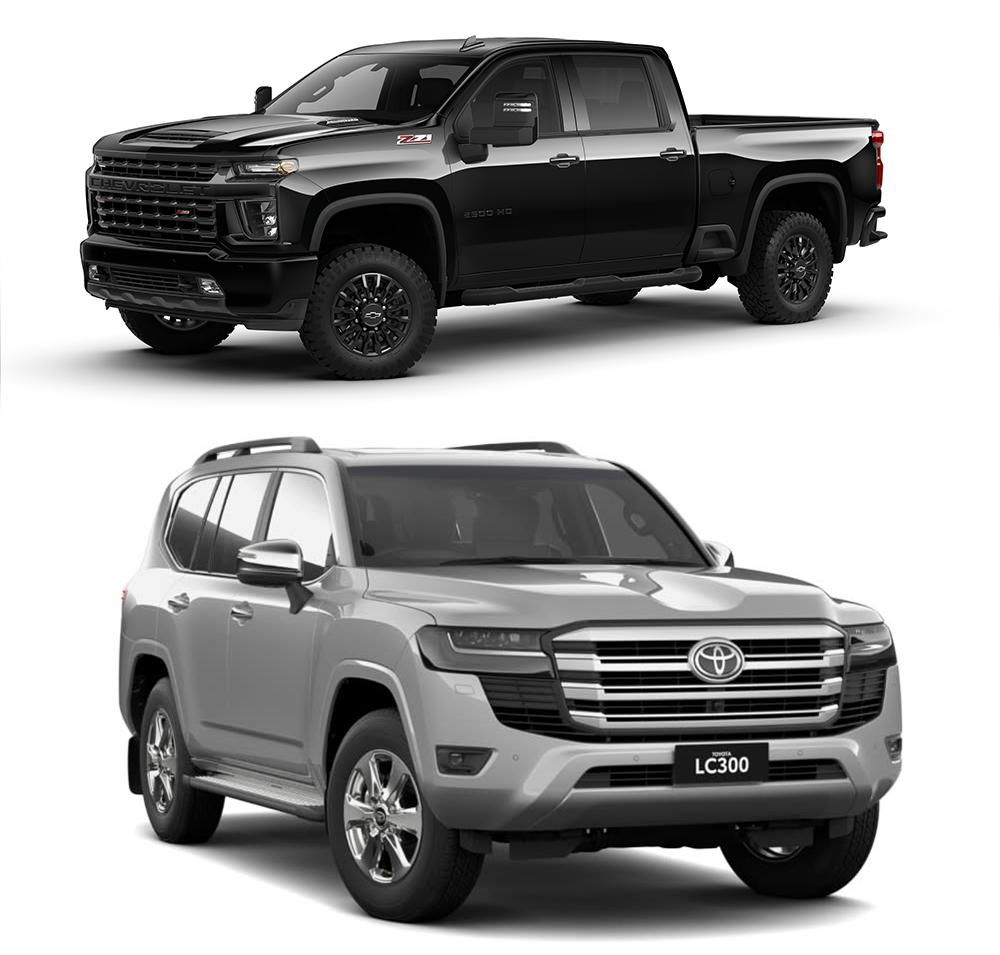 Silverado and LandCruiser comparison image